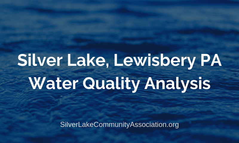 Silver Lake Lewisberry PA Water Quality 2019